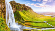Waterfall and landscape around it