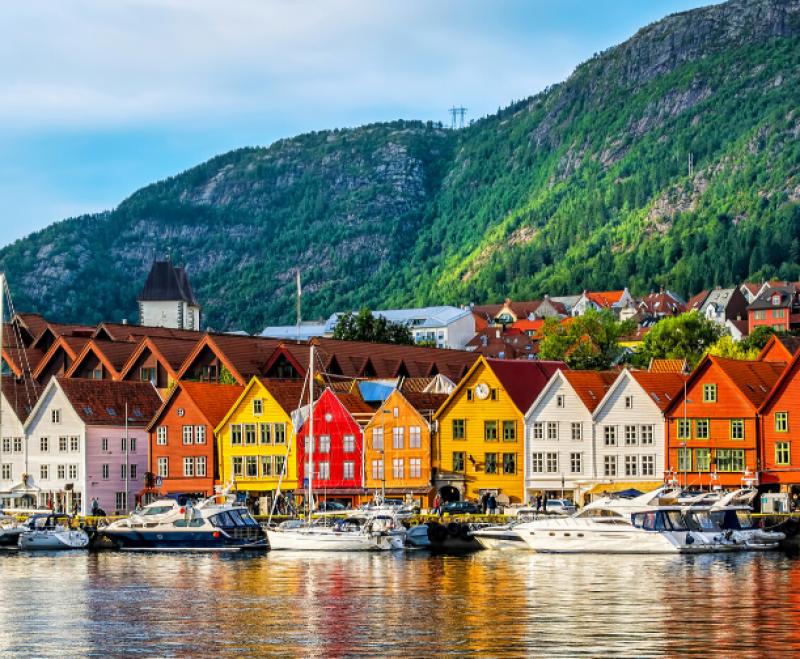 Bryggen waterfront in Bergen