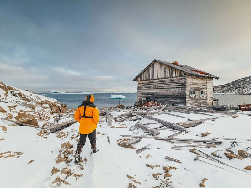Abandoned hut in Russian Arctic
