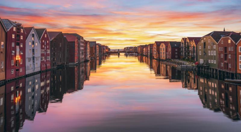 Sunset in Trondheim
