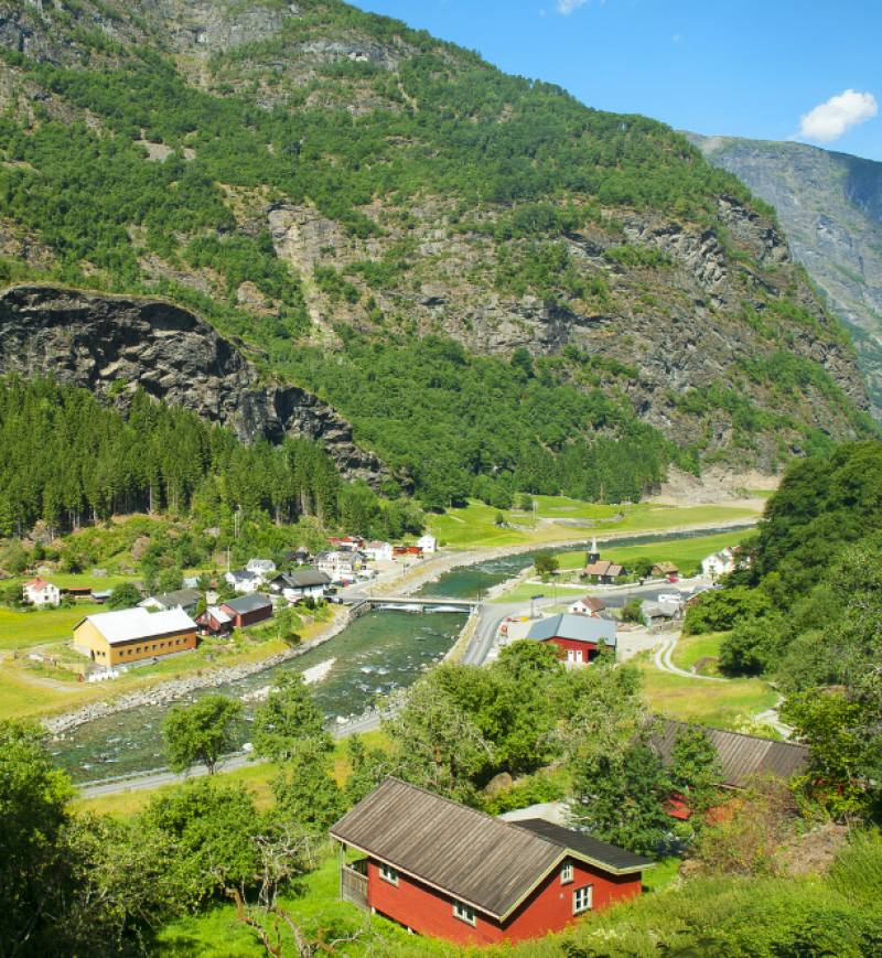 View from train in Norway