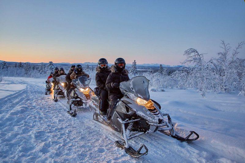 sweden camp ripan snowmobiling
