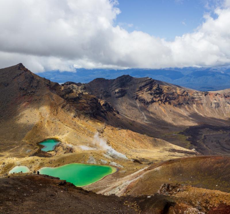 Landscape of Tongariro National Park