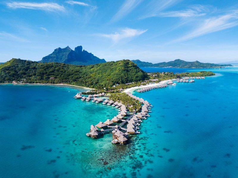 french polynesia bora bora nui aerial view astk