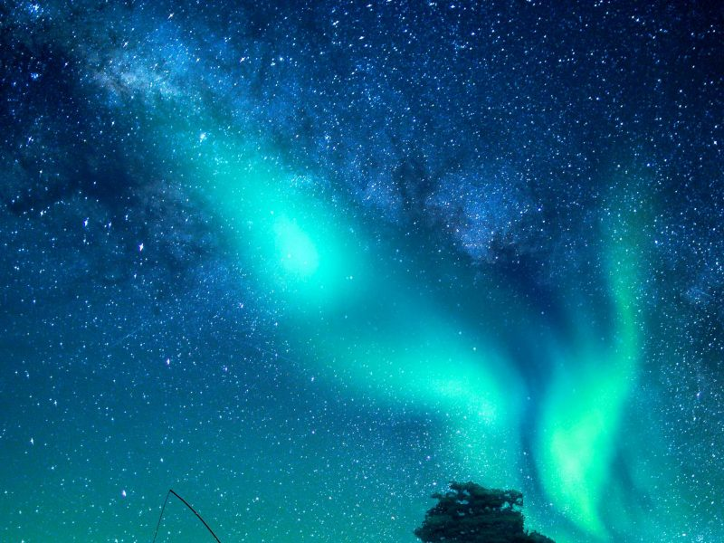 aurora star filled sky istk