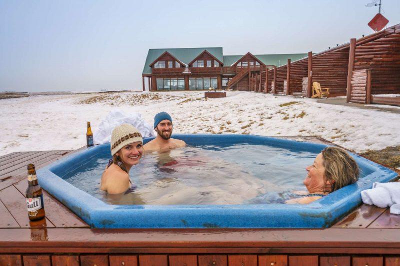 hotel ranga outdoor hot tub winter rth
