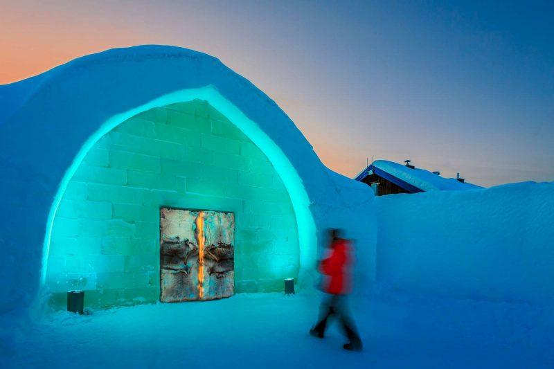 icehotel entrance swedish lapland rth