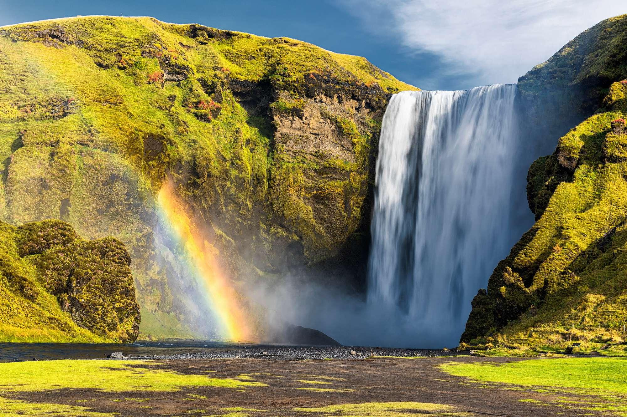iceland south west skogafoss rainbow istk