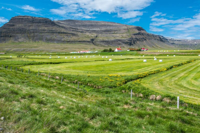 iceland west fjords bardastrond view over farm istk