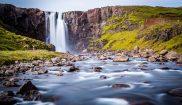 iceland west fjords isjafjordur waterfall istk