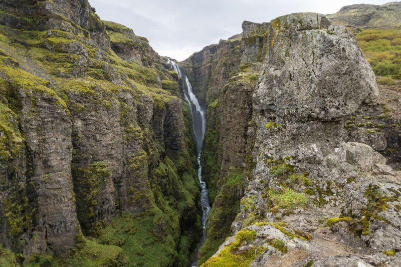 iceland west glymur waterfall istk