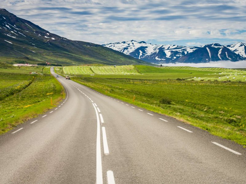 north iceland eyjafjordur countryside road rth