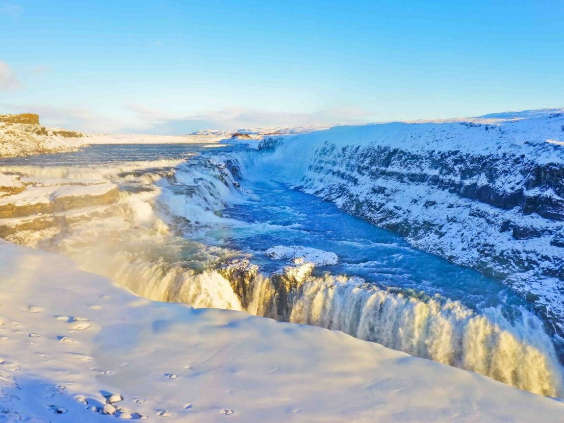 south west iceland gullfoss winter istk