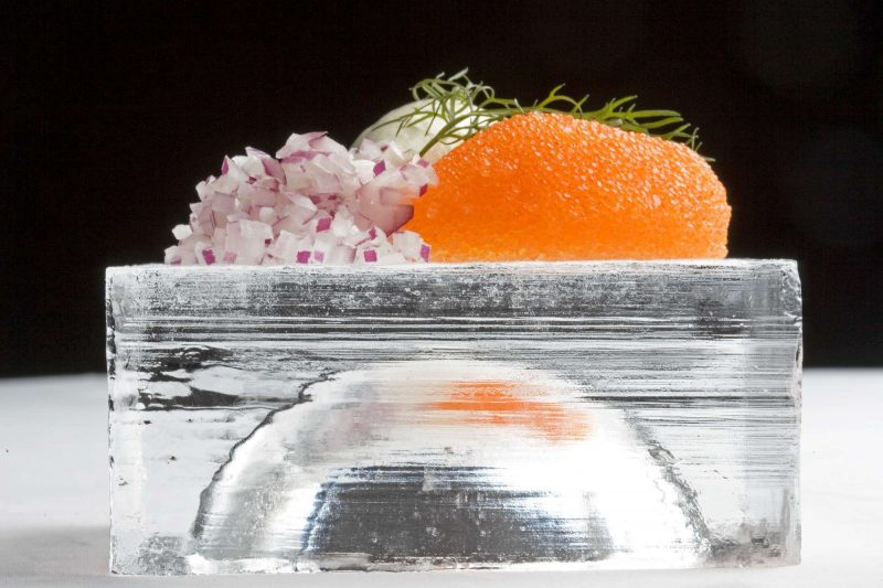 sweden icehotel fine dining ice plate