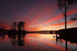 highland landscapes sunset