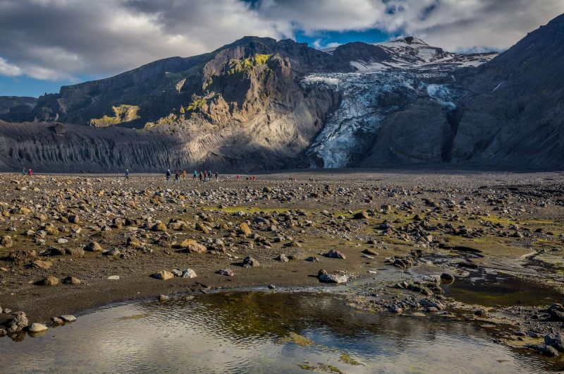 iceland gigjokull outlet glacier on eyjafjallajokull rth