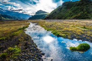 iceland thorsmork glacial river istk