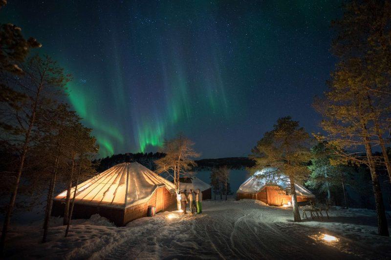 malangen resort nikka camp people watching aurora