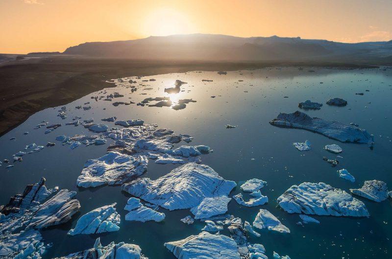 south east iceland jokulsarlon midnight sun rth