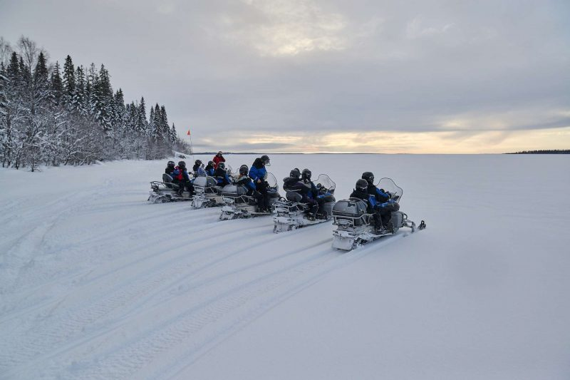 swedish lapland snowmobile safari brandon lodge gr