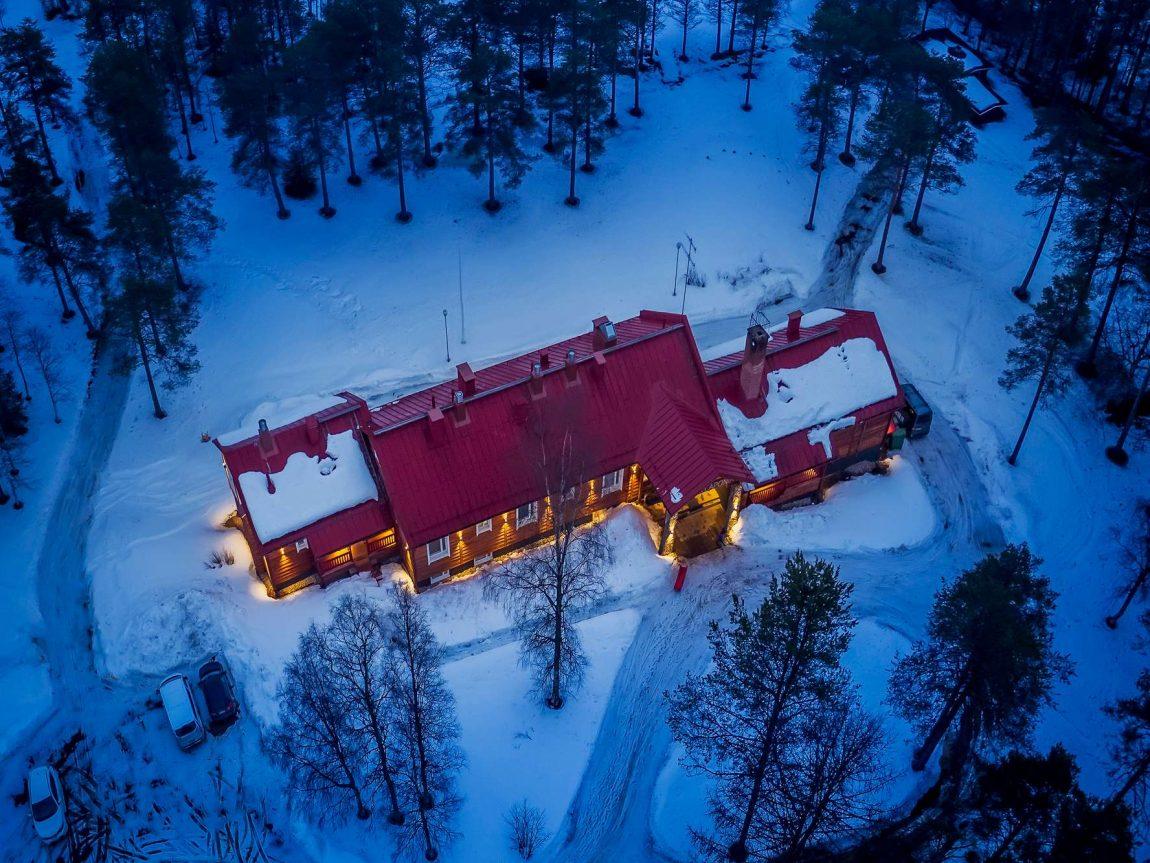finnish lapland aerial view of beana laponia rth