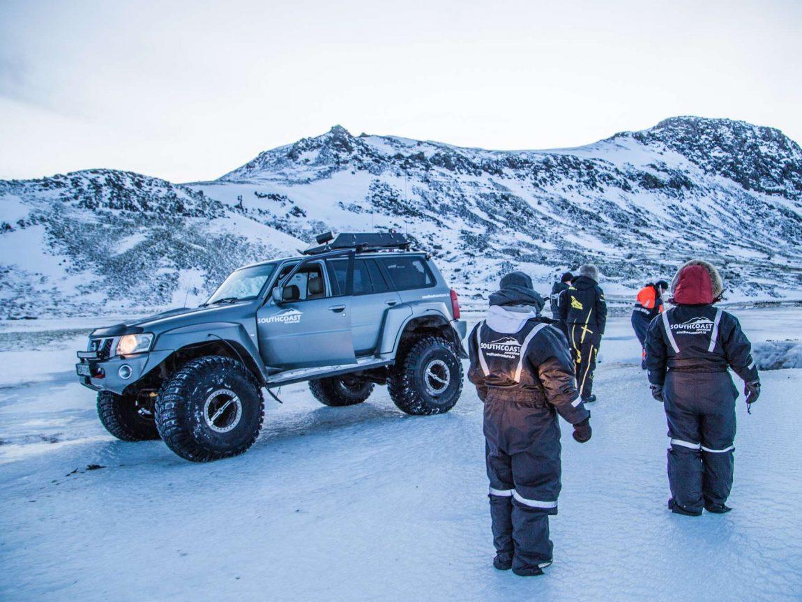 iceland superjeep safari winter sca