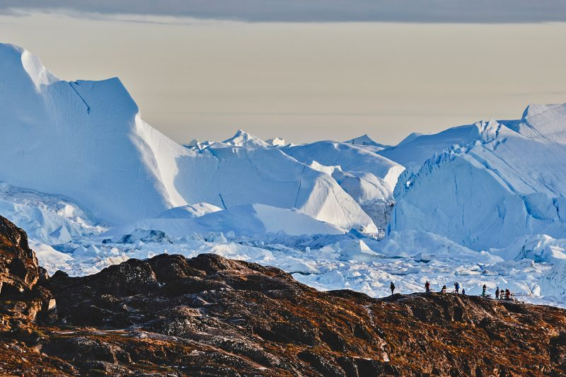 greenland overlooking ilulissat icefjord from land albexp