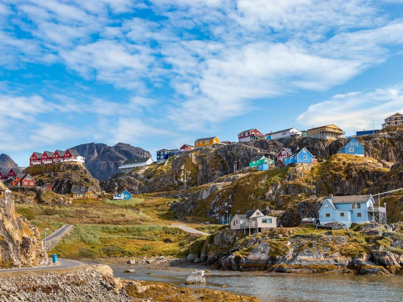 west greenland colourful houses of sisimiut istk
