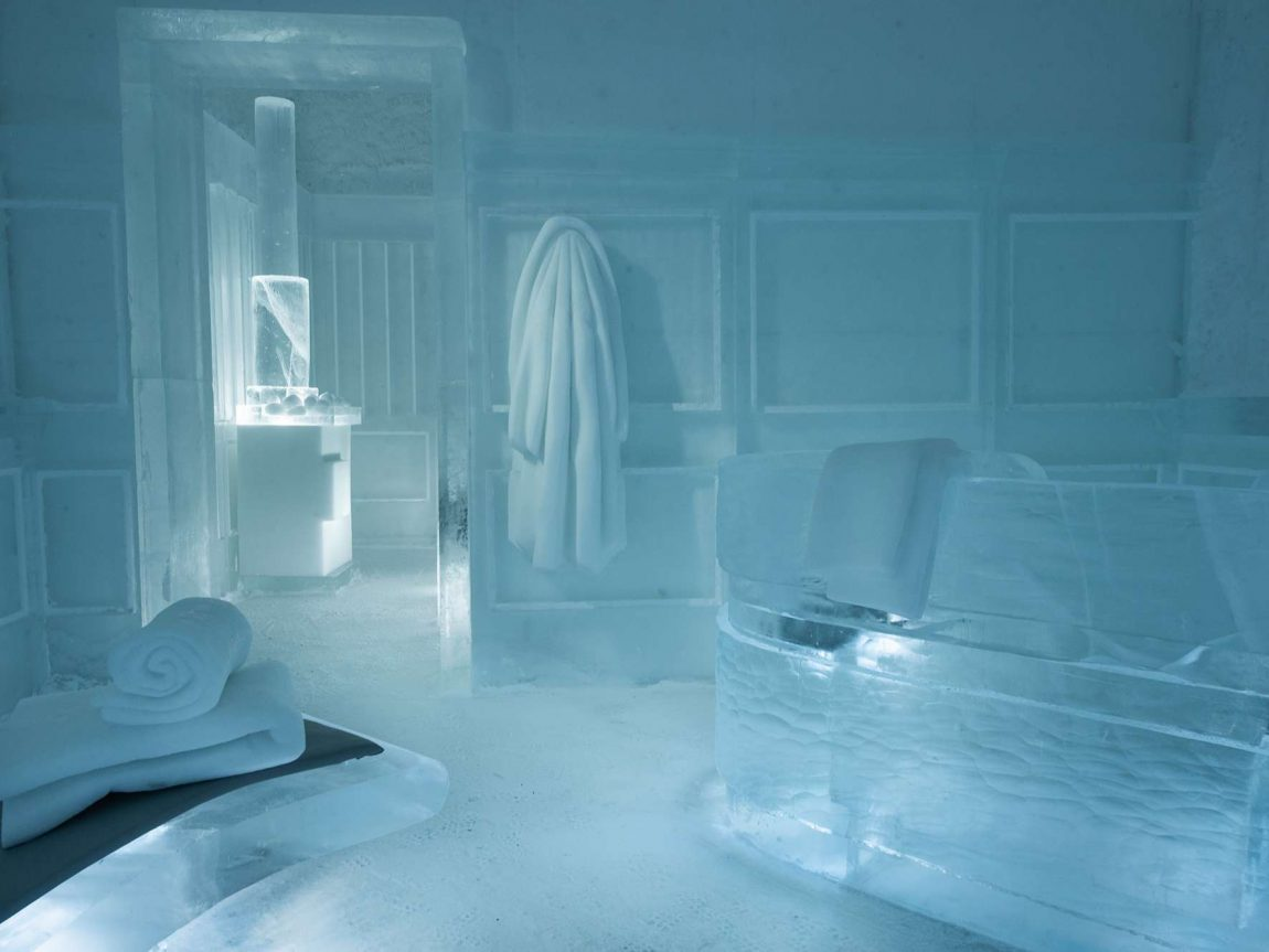 icehotel 365 art suite sauna by luca roncoroni ak