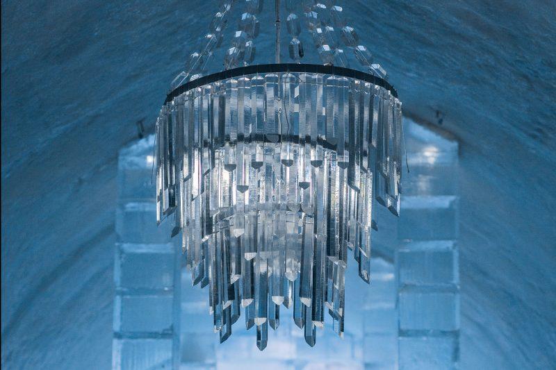 swedish lapland icehotel31 main hall chandelier ak