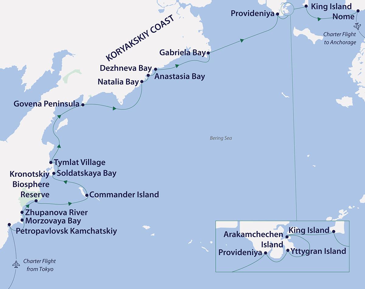 arctic russian far east explorer map