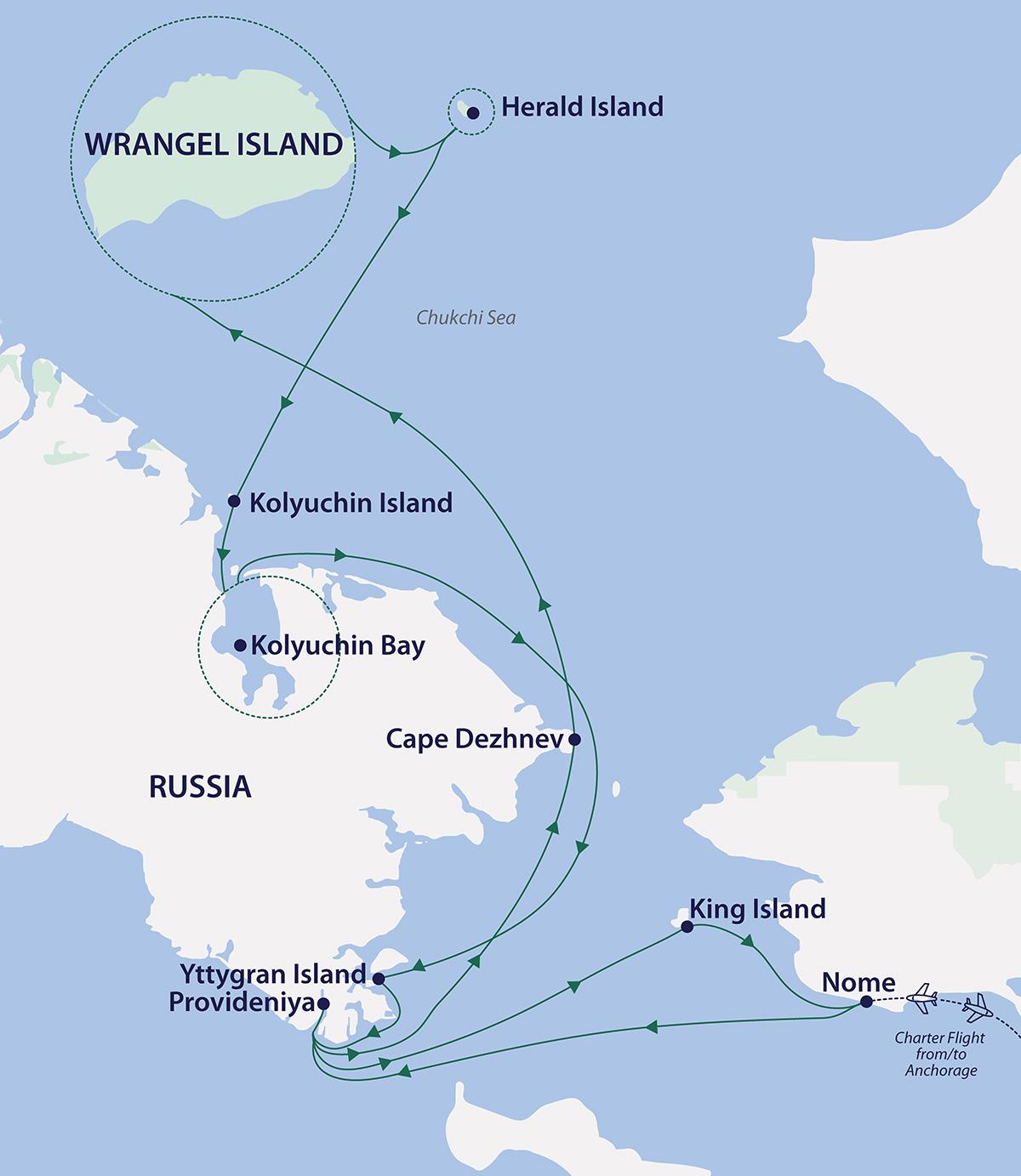 arctic wrangel island odyssey map