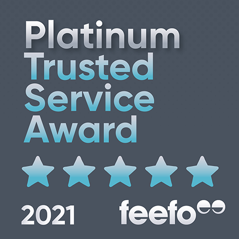 feefo platinum service award 2021 sq