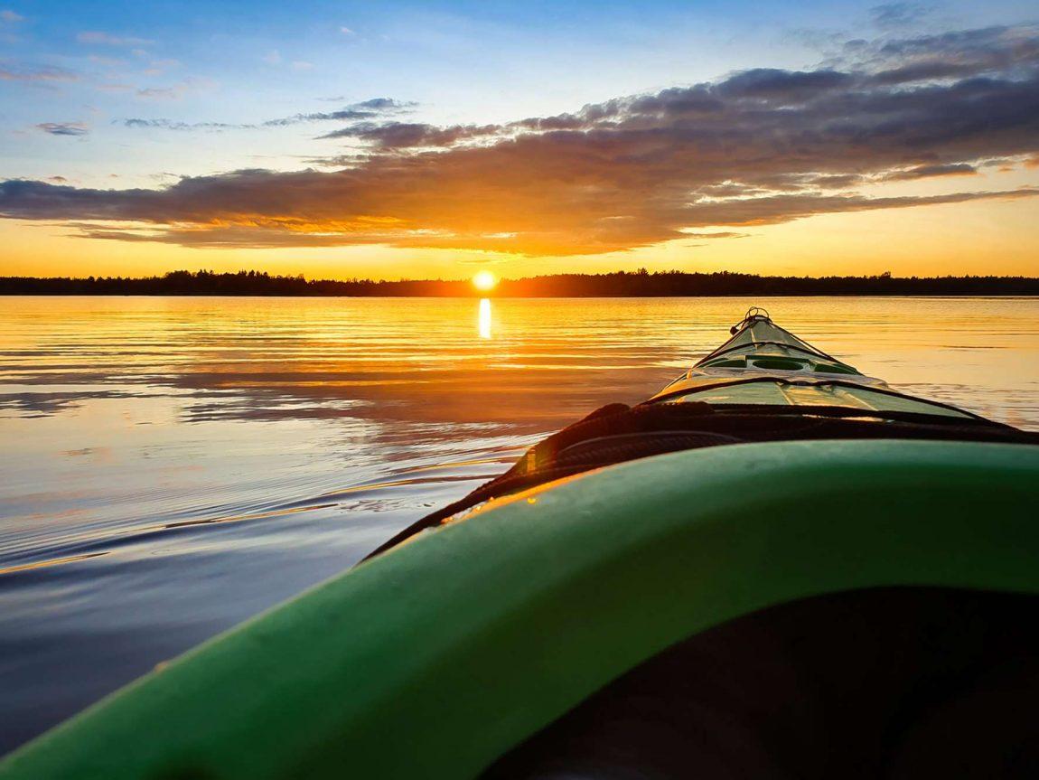 sweden kayaking at sunset istk