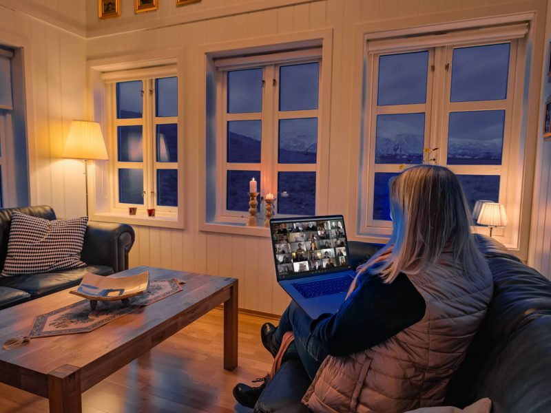 iceland remote working from glacier lodge snaefellsnes rth