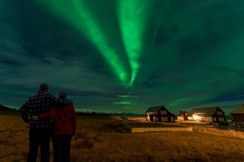 iceland snaefellsnes watching aurora from glacier lodge rth
