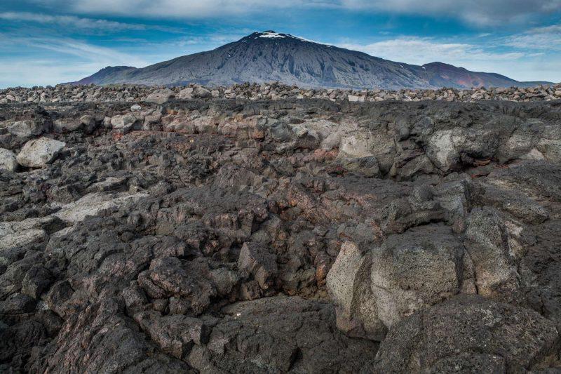iceland volcanic terrain around snaefellsjokull rth