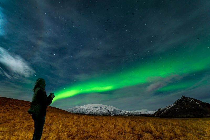 iceland watching aurora snaefellsnes rth