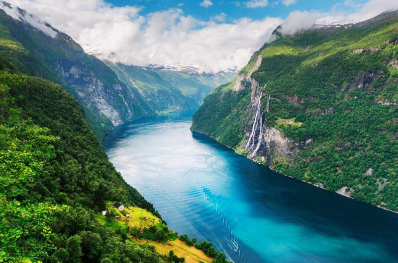 fjord norway view over geirangerfjord istk