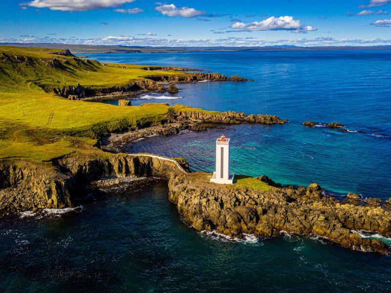 north iceland digranesviti lighthouse near bakkafjordur nitb