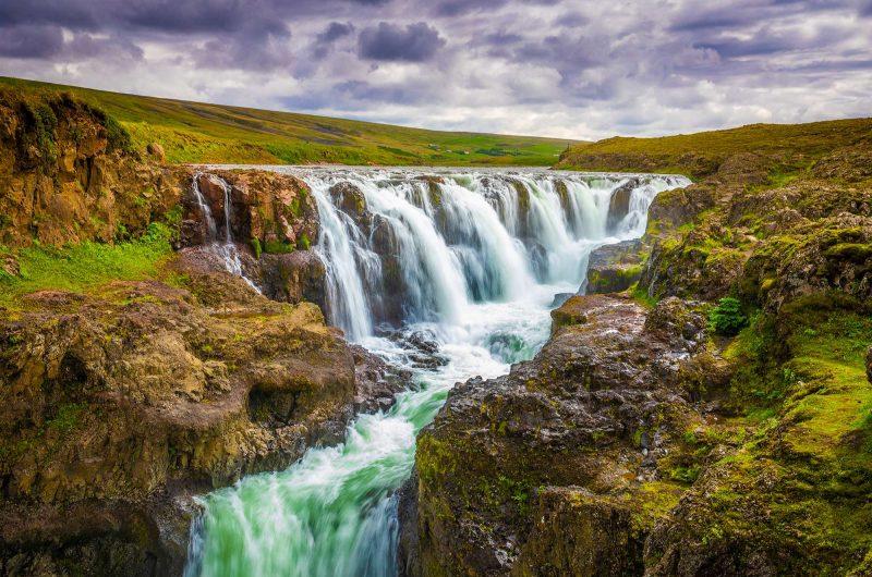 north iceland kolugljufur waterfall nitb