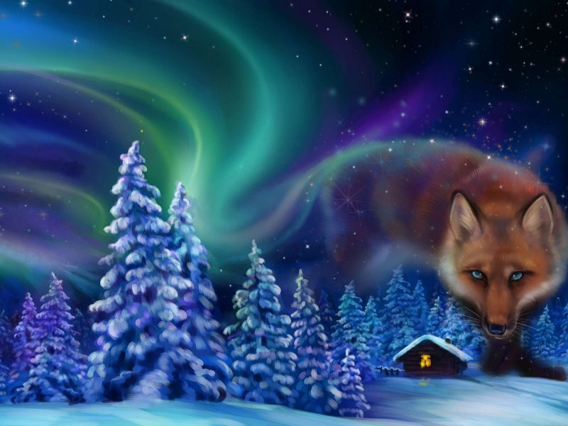 northern lights myths fire fox astk