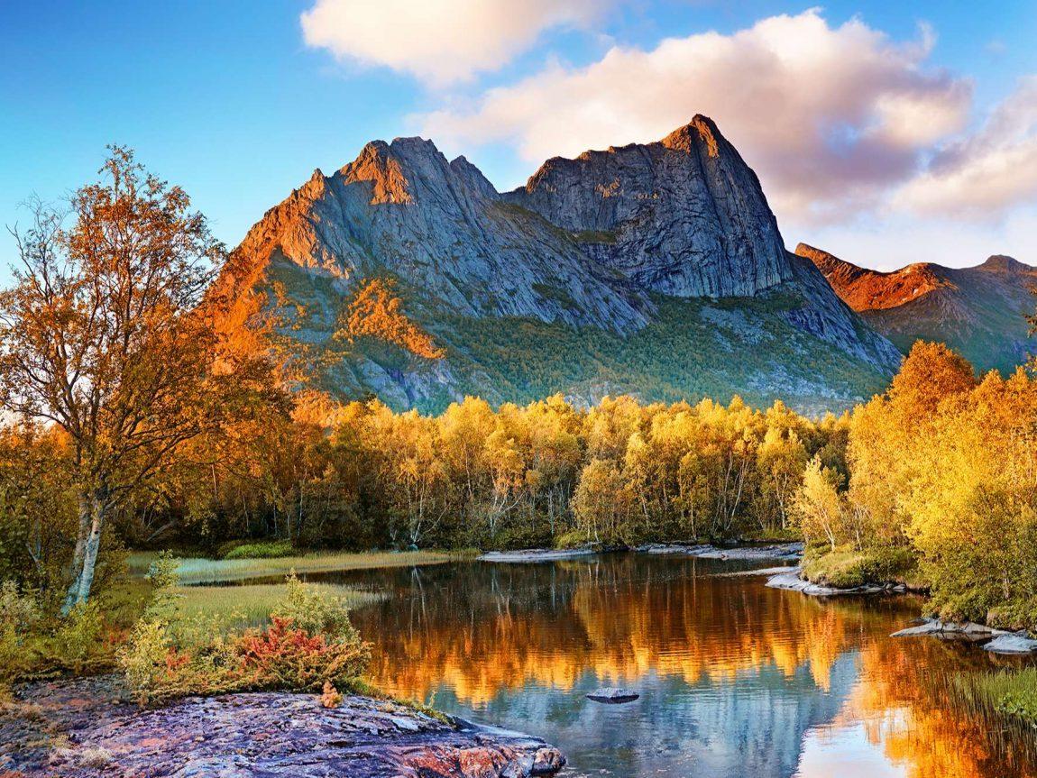 norway mountains nordland county autumn istk